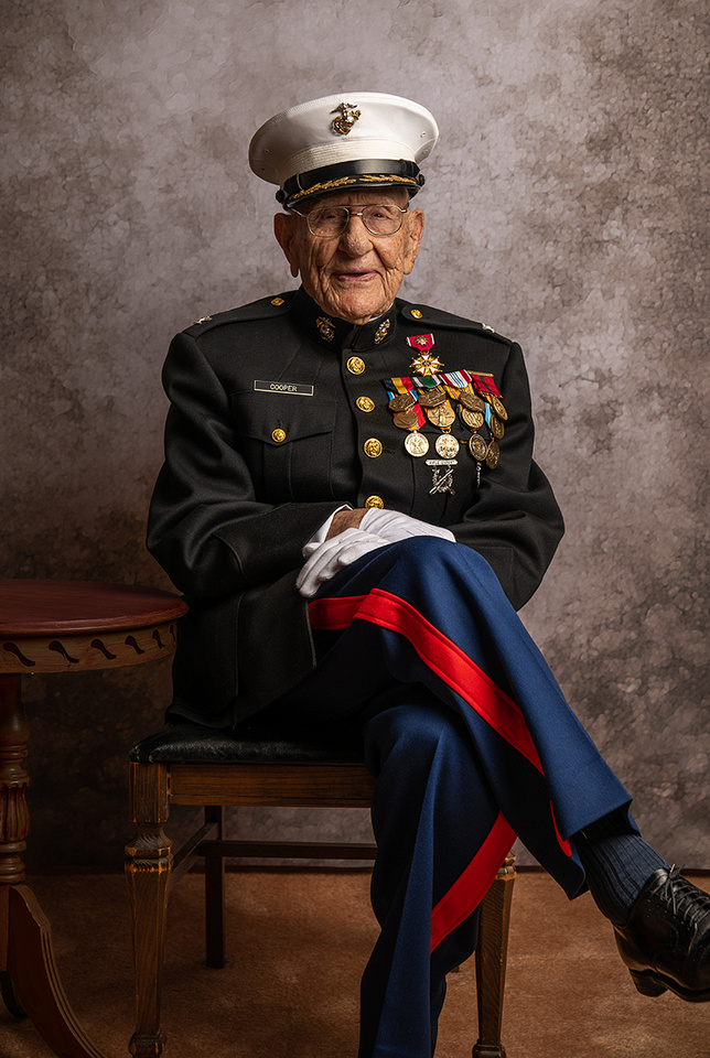 USMC Col. Carl Cooper - Photographed on 4/10/19